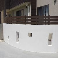 ジョリパット塀 & アール型フェンスのサムネイル