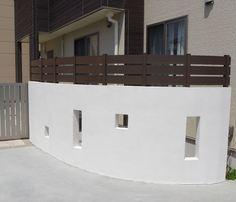 ジョリパット塀 & アール型フェンス