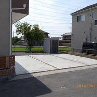 ブロック塀フェンス & アプローチ周り & 駐車場 & サイクルポートのサムネイル