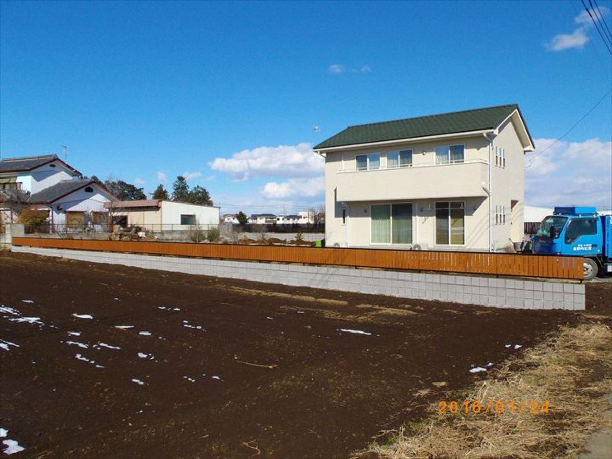 ブロック塀 & 木調フェンスのサムネイル
