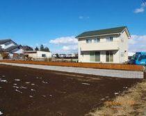 ブロック塀 & 木調フェンス