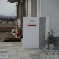 天然石アプローチ & 門塀 & 駐車場のサムネイル
