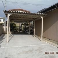 天然石アプローチ & 駐車場 & カーテンゲートのサムネイル